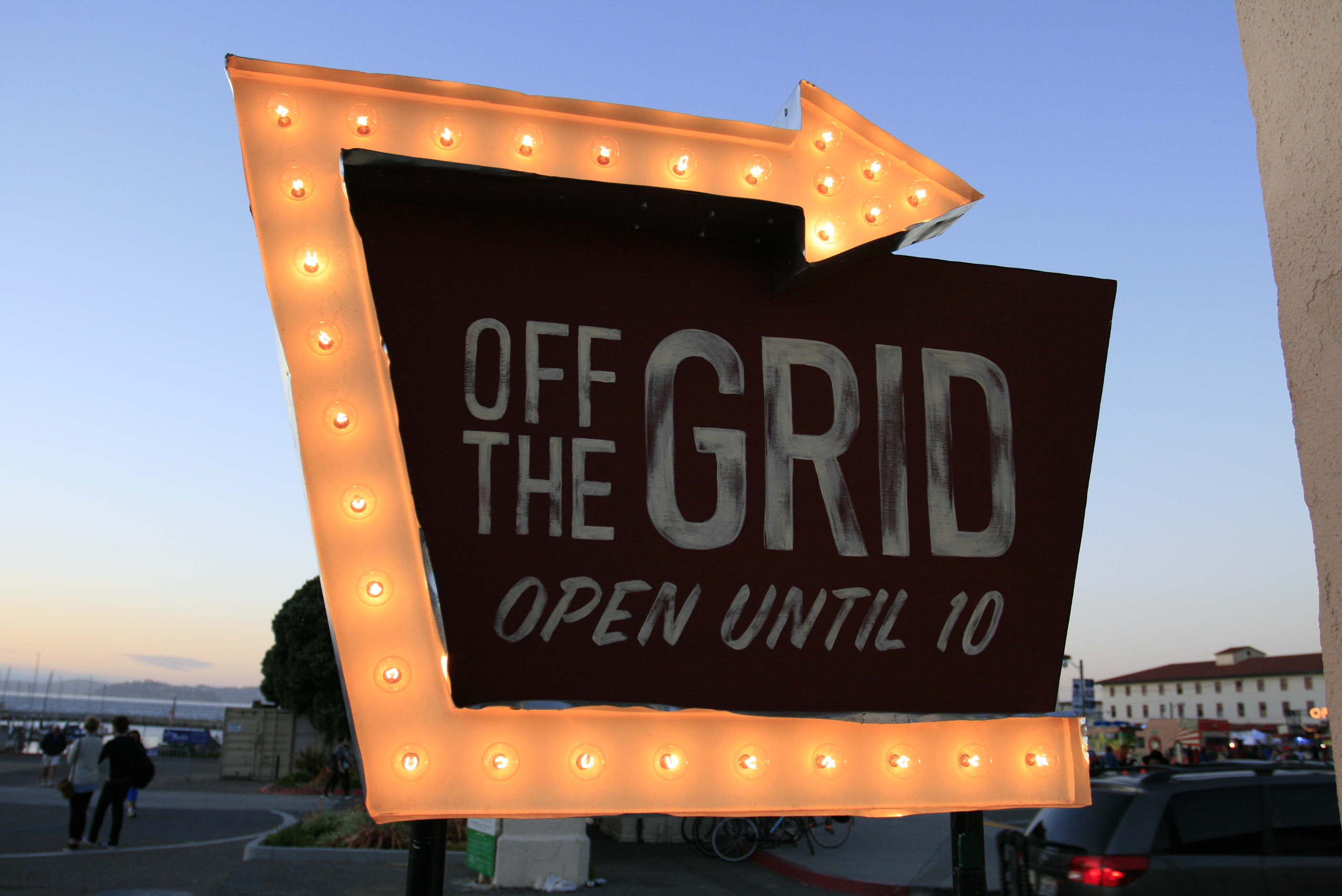 Marquee Arrow Sign Off The Grid Fort Mason San